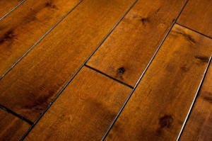wood floor vs. laminate floor